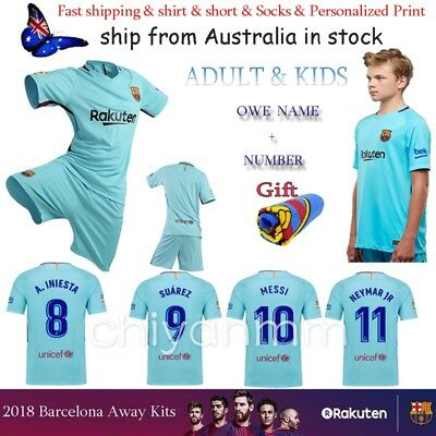 2018 Jersey Football kit for Adults Away Soccer Boy Youth 3-14 Years With Socks