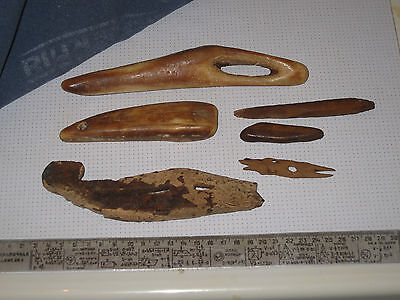 Eskimo Inuit Yupik (Chukchi) Siberia Сarving  6 Inuit's artifacts. Billiken
