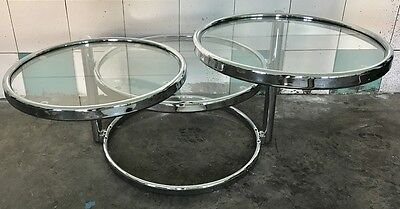 Tavolo Tavolino Table Tomasucci Three Rings Acciaio Caffe' Design Modernariato