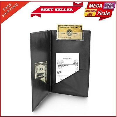 Waiter Book Wallet Waitress Checkbook Leather Waitstaff Restaurant Server Guest
