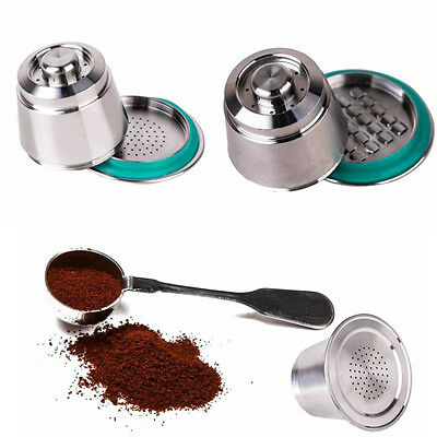Stainless Steel Matal Coffee Metal Capsule Reusable Cup Refillable For Nespresso