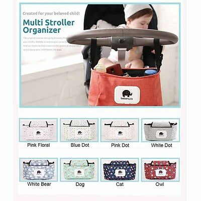Universal Baby Trolley Storage Bag Multi Stroller Organizer Carriage Pram Buggy