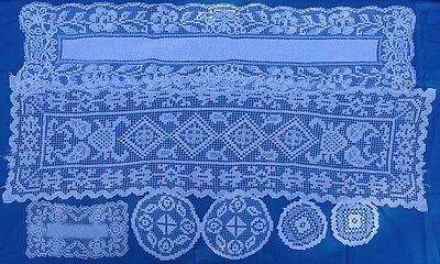 Vintage Italian Lace Doilies - bulk lot - Handmade - Craft use - upcycle
