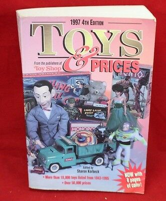 Vintage 1997 Toys & Prices Guide Book 4th Edition Soft Cover Sharon Korbeck