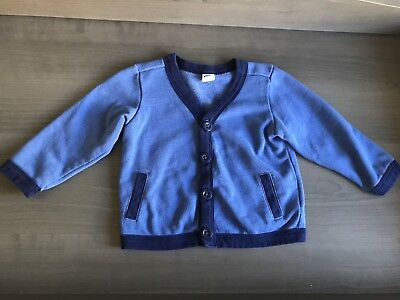 Old Navy Baby Toddler Boy Blue Cardigan 12 Months 18 Months  Fall Winter Summer