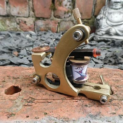 Hand Built Old School Solid Brass Walker Style Tattoo Machine Smooth Liner Uk