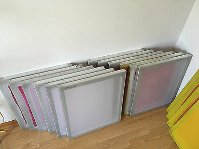 Lot of 17 Alum Screens 20x24, Diazo Direct Emulsion, cleanup cards + more BUNDLE
