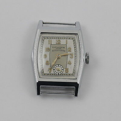 Antique Vintage Art Deco Swiss Extra Wristwatch Ancre Chronemetre New Old Stock
