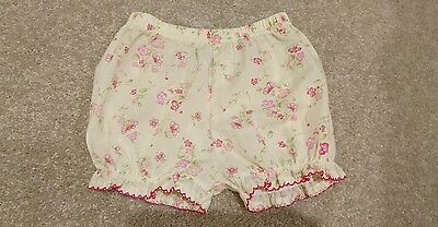 BNWOT Yellow Floral Bloomers Nappy Diaper Cover Bottoms Sz 00 Baby FREE POSTAGE