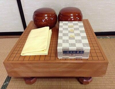 VINTAGE JAPANESE THICK KATSURA WOOD GO GAME BOARD GOBAN CARVED 17.5inch