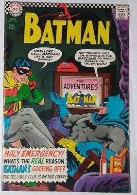 Batman #183 1966 Dc Comic 2Nd Appearance Of Poison Ivy Fine Condition