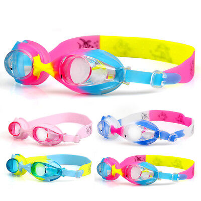 Swimming Goggles Anti-fog Swim UV Glasses Adjustable Kids Children Boys Girls