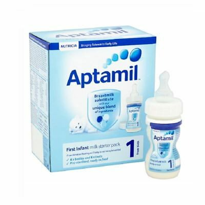 Aptamil First Infant Milk Starter Pack | 1 From Birth | 6x70ml 1 2 3 6 12 Packs