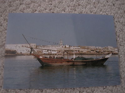Postcard  Sultanate Of Oman Traditional Boat At Sur Photograph