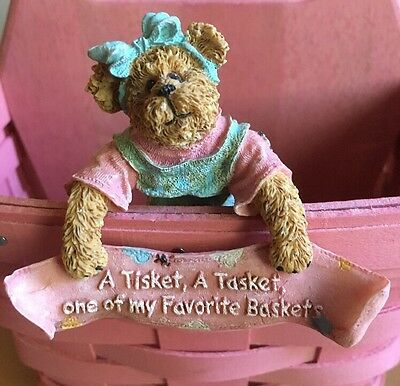 Longaberger / Boyds Bears & Friends Basket Hanger - My Favorite Basket