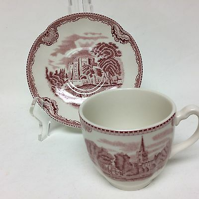 "2 Cups And Saucers,  Johnson Bros ""old Britain Castles"""