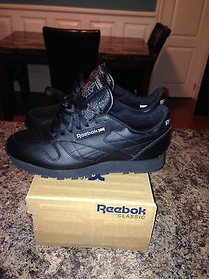 Reebok Classic Leather Black sz 11.5 new in box