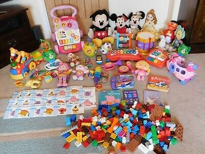 Huge Bundle Of Baby Toddler Toys Vtech  Fisher Price Little Tikes