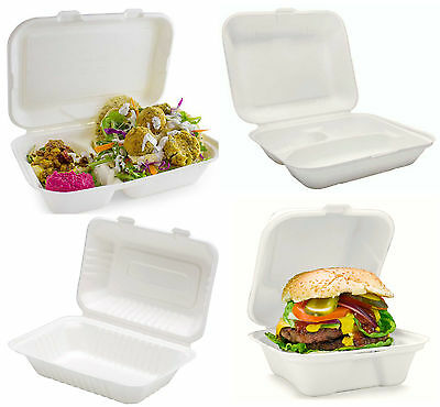 Hot Food Containers, Takeaway Boxes, Burgers, Chips, Biodegradable, Compostable