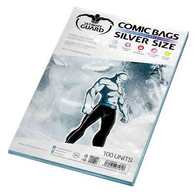Ultimate Guard Comic Bags resealable Silver Size - 100