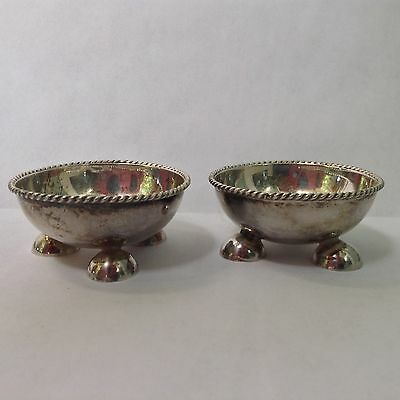 Sterling Silver Salt Cellars Marked Mexico