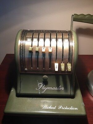 Paymaster Check Writer Green And Gold