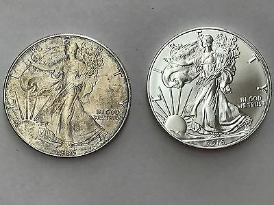 1986-2017 American silver eagle (two Coins)