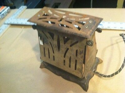 Unique Antique Electric Toaster. Lights Up. Unknown Brand. Antique Decor.