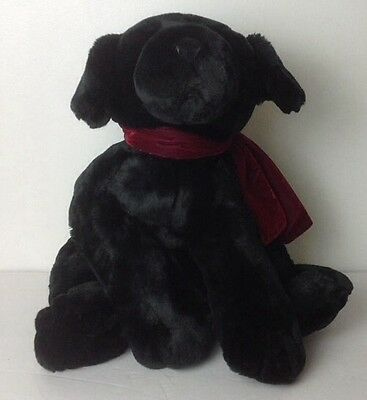 Russ Berrie & Co Ginger The Puppy Black Lab Medium EUC Approx 22""