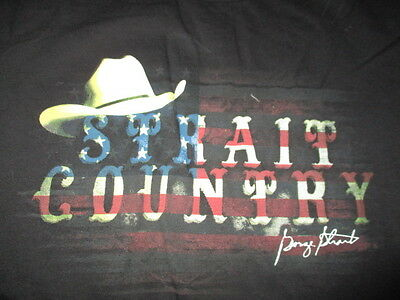 "2013 GEORGE STRAIT ""Strait Country Cowboy Rides Away"" Concert Tour (MED) T-Shirt"