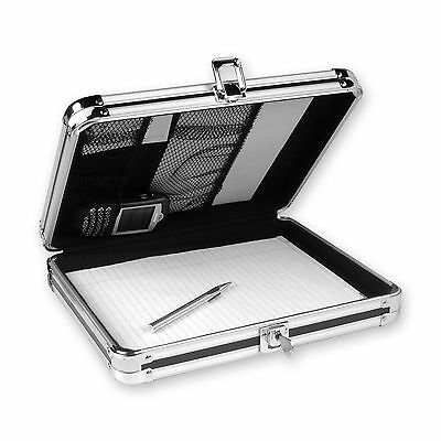 Black Locking Storage Clipboard Key Lock Storage Organizer Home Office Metal Box