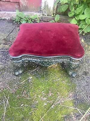 Rare Fancy Small Victorian Footstool