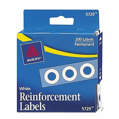 Avery Hole Punch Reinforcement Labels White 200ct. Clear