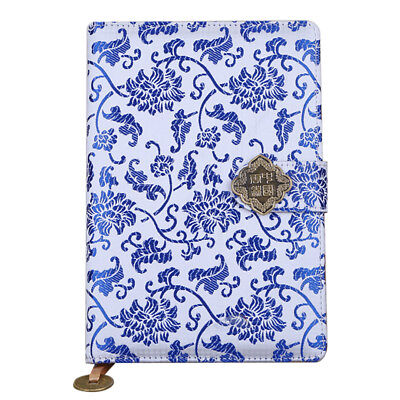 Luxury Retro Chinese Royal Design Paper Journal A5, Blue and White Porcelain 200