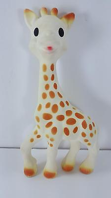 """8"""" Vulli SOPHIE the GIRAFFE Baby Teether Squeaker Chew Toy (Pre-Owned) FREE SHIP"""