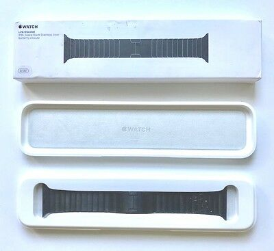 Apple - Link Bracelet for Apple Watch 42mm Series 1 and 2, Space Black MJ5K2ZM/A