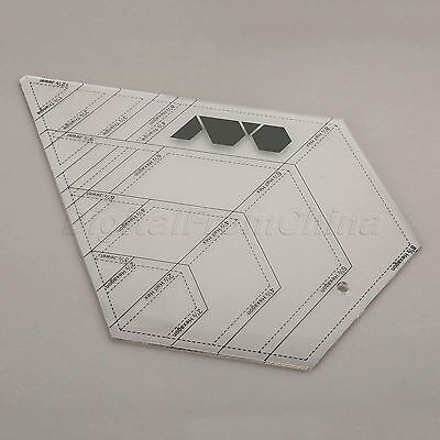 Quilting Sewing Patchwork Craft Scale Ruler Diamond Shaped Foot Tailor Tools