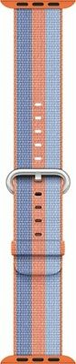 Apple - Woven Nylon Strap/Band for Apple Watch 38mm - Orange/Blue MPVV2AM/A