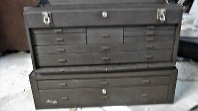 2 Kennedy Machinists Chest Tool Box 11 Drawer 526 with 2 drawer base MC 28