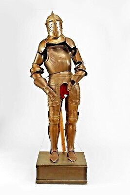 Italian Medieval / Renaissance Style Metal Life Size Suit of Armour (19th Cent.)