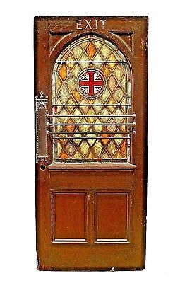 English Gothic Style Stained-Oak Door