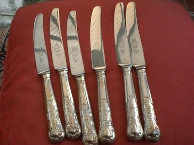 table knives kings pattern silver plate handles made in sheffield