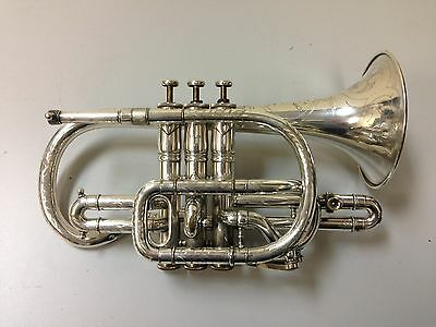 Antique Distin London Model Silver Cornet 1902