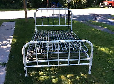 "Simmons ""ACE"" 1930's  Full Size Bed Headboard Footboard & Rails - NICE BED"