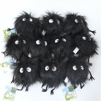 Studio Ghibli My Neighbor Totoro Dust Bunnies Soft Plush Keychain Toy Keyrings