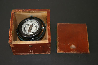 Vintage 1943 Ship's Compass Wilcox Crittenden & Co. Nautical Works