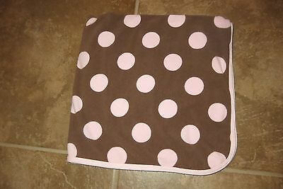 Carter's Brand Baby Girls Brown & Pink Dots Double Knit Blanket Size 30X36 Euc!