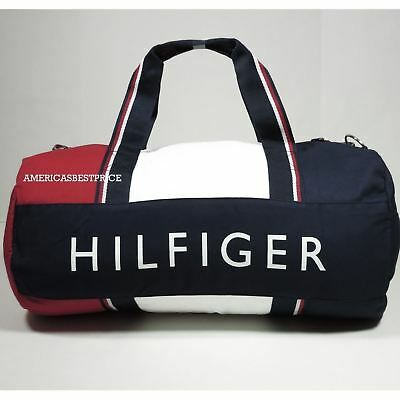 Tommy Hilfiger New Large Duffle Bag/gym Bag Nwt Blue Red White Very Nice