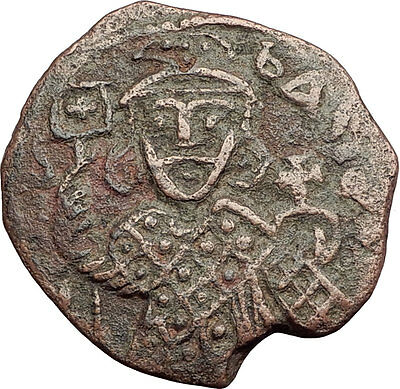 THEOPHILUS 835AD Victory vs ARABS Follis Authentic Ancient Byzantine Coin i62565
