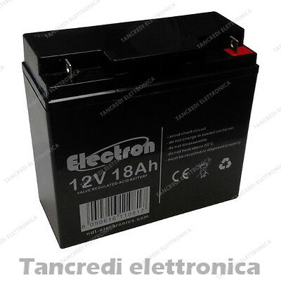 Batteria Al Piombo 12V 17Ah 18Ah Ricaricabile Ciclica Carrelli Golf Cars Carrozz